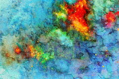 Abstract background. Color background with spots and crackle. Royalty Free Stock Photography