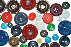 Abstract background with color buttons for clothes royalty free stock photo