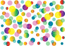Abstract background with color circles. Modern creative page layout with dimensional bright bubbles Stock Images