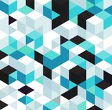 Abstract background with color cubes and grid. Abstract background with white black and blue color cubes for design brochure, website, flyer. EPS10 vector illustration