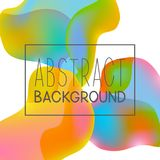 Abstract background with color elements. Abstract background with color liquid elements Vector Illustration