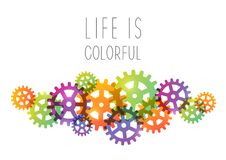Abstract background with color gears. Abstract background with color gear elements Stock Photography