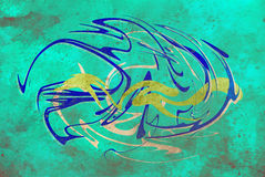 Abstract background, color graffiti with grunge. Effect and glass effect vector illustration