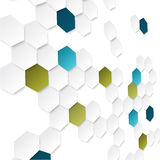 Abstract background with color hexagons. Design with perspective effect Stock Photography