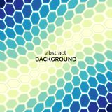 Abstract background with color hexagons elements. Vector illustration Stock Photos