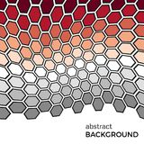 Abstract background with color hexagons elements. Vector illustration Royalty Free Stock Photography