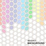 Abstract background with color hexagons elements. Vector illustration Royalty Free Stock Photo