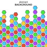 Abstract background with color hexagons elements. Stock Photos