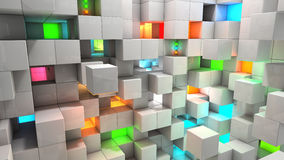 Abstract background color light cubes Royalty Free Stock Photos