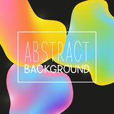 Abstract background with color fluid elements. Abstract background with color liquid elements Vector Illustration