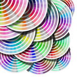 Abstract Background Color Palette - Circles. Background color palette guide with circles on white background Royalty Free Illustration