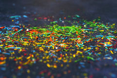 Abstract  background: Color pencil shavings Stock Photo