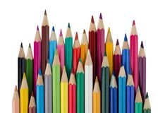 Abstract background from color pencils Royalty Free Stock Photo