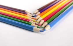 Abstract background from color pencils Stock Photography