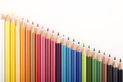 Abstract background from color pencils Royalty Free Stock Image