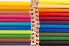 Abstract background from color pencils Royalty Free Stock Images