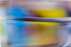 Abstract background of color reflections in thick glass Royalty Free Stock Images