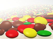 Abstract background with color roundish elements Stock Photo