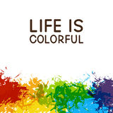 Abstract background with color splashes. Abstract background with color paint splashes Stock Image