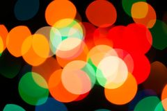 Abstract background of color spots defocus Stock Image