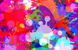 Abstract background of color stains of paints. Vector royalty free illustration