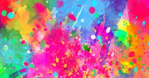 Abstract background of color stains of paints Royalty Free Stock Photo