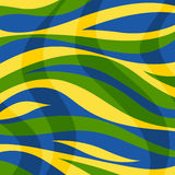 Abstract background with color stripes and waves.  Stock Illustration
