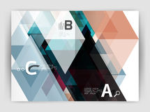Abstract background with color triangles, annual report print backdrop. Vector design for workflow layout, diagram, number options or web design Stock Photo