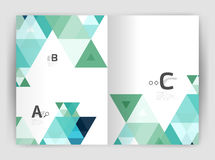Abstract background with color triangles, annual report print backdrop Royalty Free Stock Photos