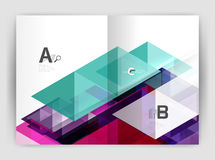 Abstract background with color triangles, annual report print backdrop. Vector design for workflow layout, diagram, number options or web design Stock Photography