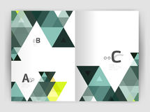 Abstract background with color triangles, annual report print backdrop. Vector design for workflow layout, diagram, number options or web design Royalty Free Stock Images