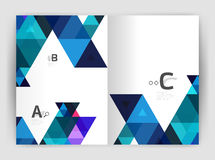 Abstract background with color triangles, annual report print backdrop. Vector design for workflow layout, diagram, number options or web design Royalty Free Stock Photos