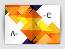 Abstract background with color triangles, annual report print backdrop Stock Photography