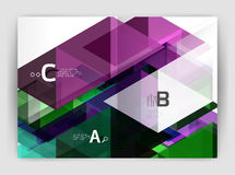 Abstract background with color triangles, annual report print backdrop. Vector design for workflow layout, diagram, number options or web design Royalty Free Stock Image