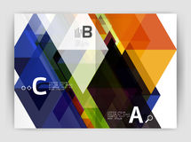 Abstract background with color triangles, annual report print backdrop. Vector design for workflow layout, diagram, number options or web design Royalty Free Stock Photography