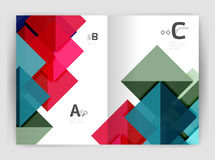 Abstract background with color triangles, annual report print backdrop. Vector design for workflow layout, diagram, number options or web design Stock Image