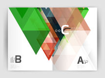 Abstract background with color triangles, annual report print backdrop Stock Image