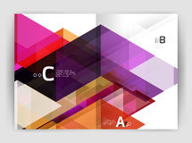 Abstract background with color triangles, annual report print backdrop Stock Images