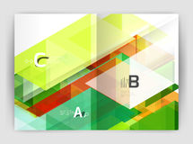 Abstract background with color triangles, annual report print backdrop Stock Photos