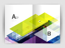 Abstract background with color triangles, annual report print backdrop Royalty Free Stock Images