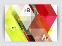Abstract background with color triangles, annual report print backdrop. Vector design for workflow layout, diagram, number options or web design Stock Photos