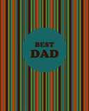 Abstract background color for your design. Greeting card.Best dad Royalty Free Stock Images