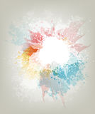 Abstract Background. With Colored Blots And Splashes Stock Photography