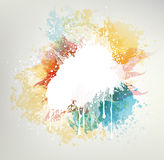 Abstract Background. With Colored Blots And Splashes Stock Photo