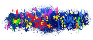 Abstract background is colored blots on white Stock Image