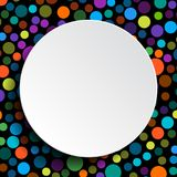 Colored Bubbles Circles and White Circle Banner Stock Photo
