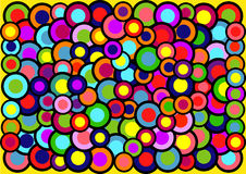 The abstract background of colored circles Stock Photos