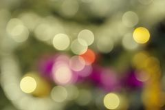 Abstract background with colored circles. By the bokeh stock photo