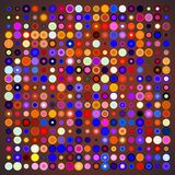 Abstract Background of Colored Circles. Of Different Sizes on Color Background. Vector Illustration EPS10 Stock Photography
