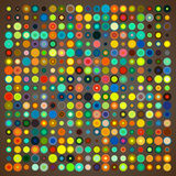 Abstract Background of Colored Circles. Of Different Sizes on Color Background. Vector Illustration EPS10 royalty free illustration